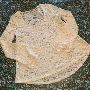Express | Lace Bell Sleeve Blouse